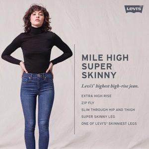 Mile High Super Skinny High Rise Levi Jeans